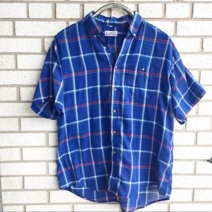 Vintage 80s Plaid Shirt Soft Thin Oversized XL
